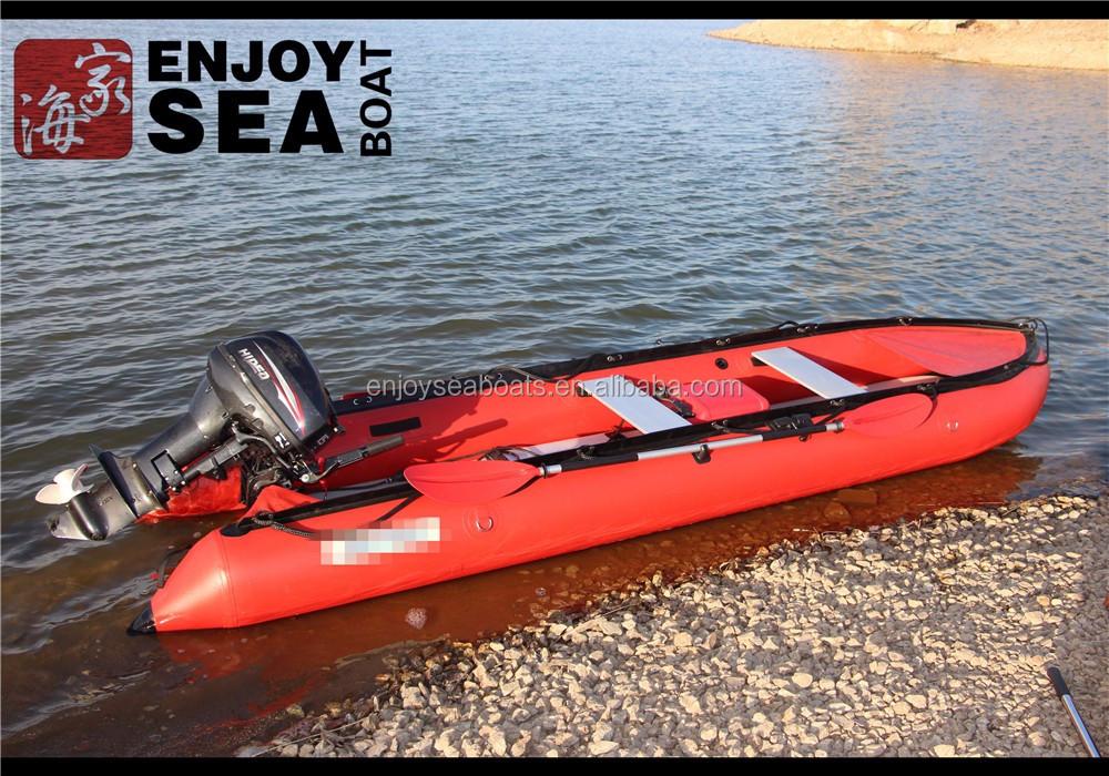 Jiahai 2016 hot sale 2 3 person pvc inflatable kayak ak430 for 3 person fishing boat