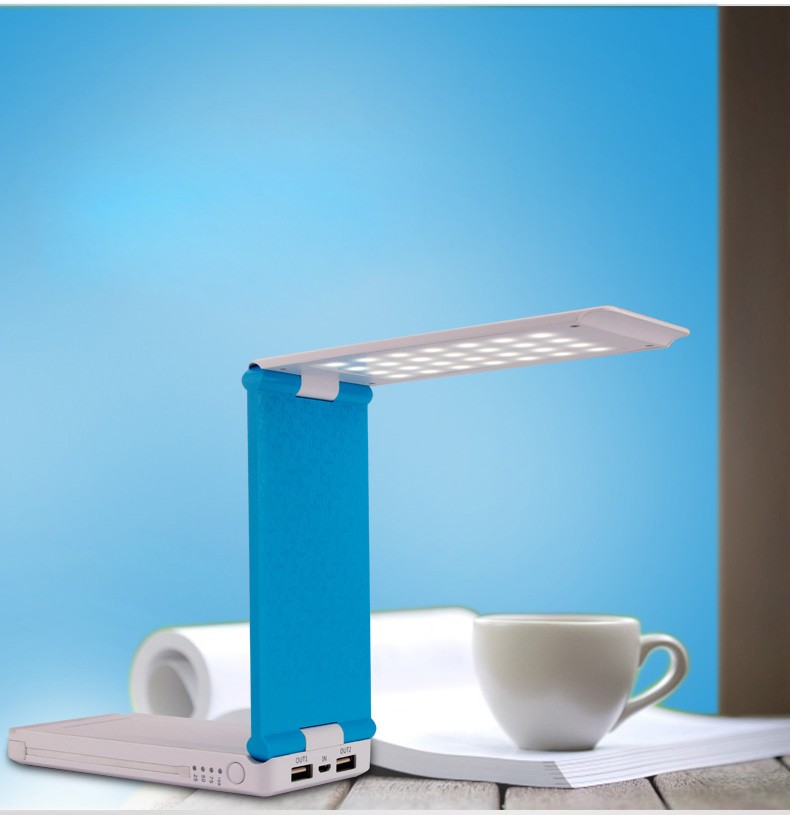 Custom OEM portable battery charger 8000mah dc5v/2.1a mobile phone power bank with LED table lamp light