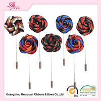 Hot Selling Fashion Flower Brooch Flower Long Lapel Pin Ribbon Rose