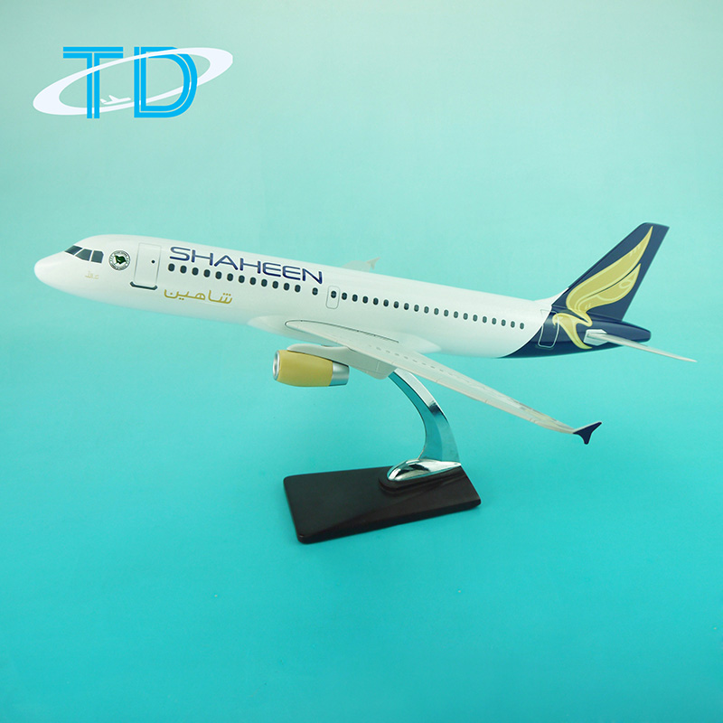 Resin models A319 SHAHEEN 47cm aircraft passenger model