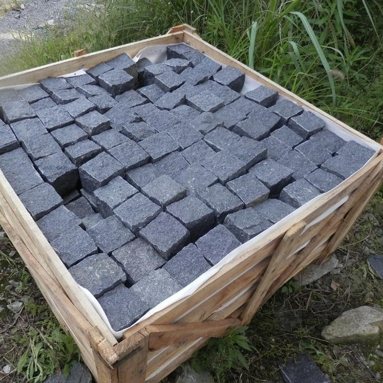 Tumbled Black Basalt Granite Flamed G684 Paving Stone for Outdoor Landscape Driveway