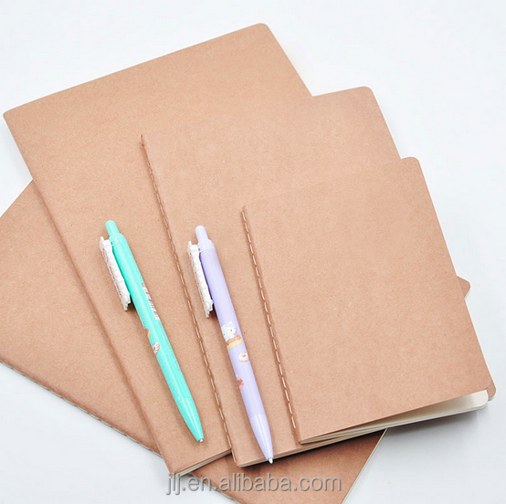 Simple Design Kraft Paper Blank Notebook OEM Wholesale Custom Notebook