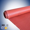 Red Coated high silica fiberglass fabric for thermal insulation