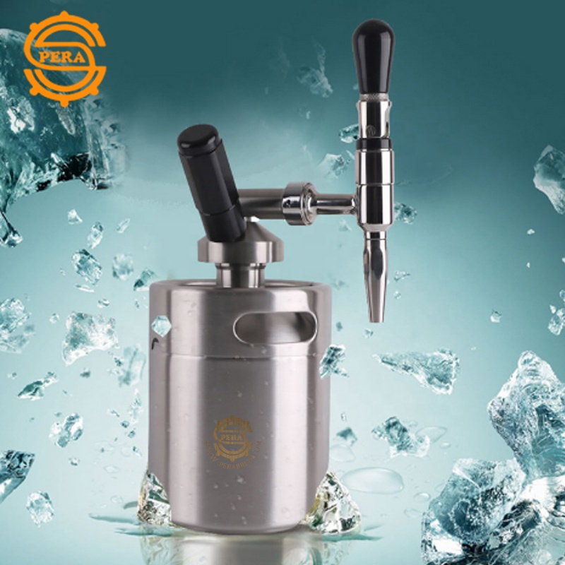 Food grade SS 5 Litri mini keg dispenser per gassate birra e di Azoto