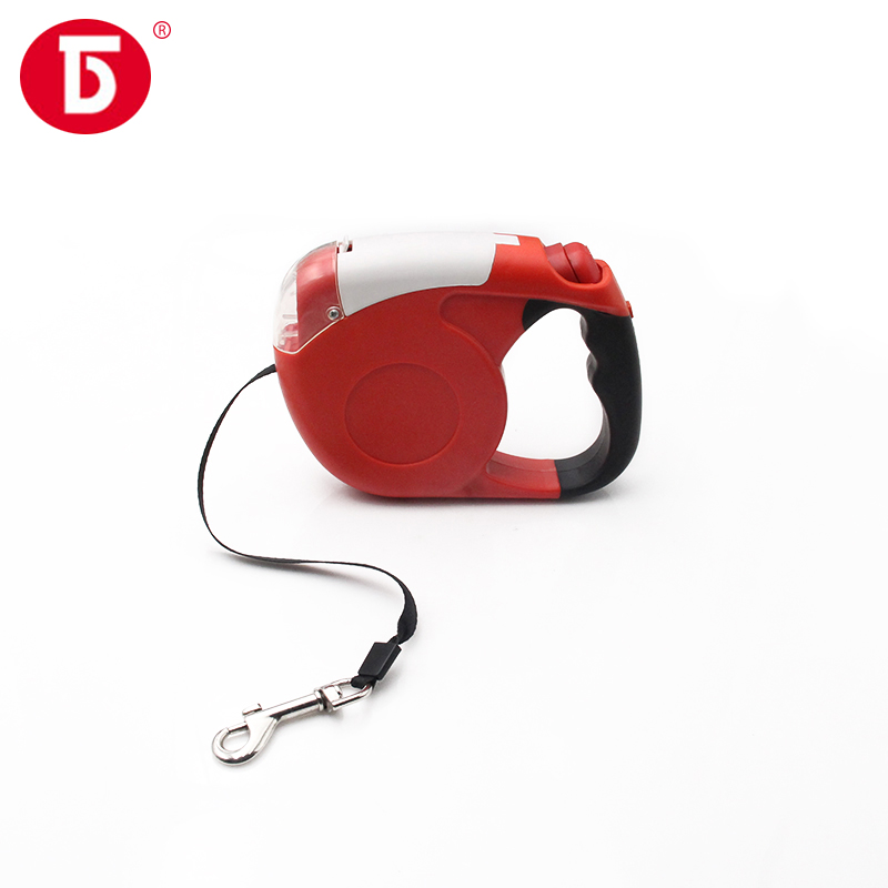 Flashlight and bag dog leash automatic retractable dog leash on sale