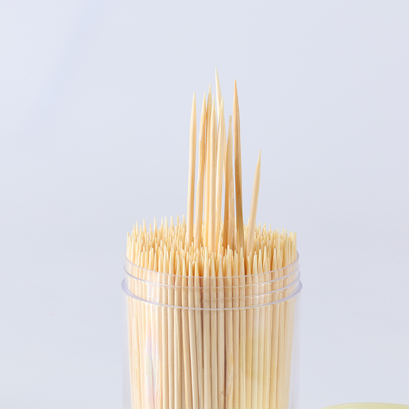 Plastic bottle packed double end toothpick