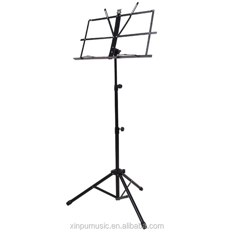 Metal mini Music Stand folding black music book stand with bag