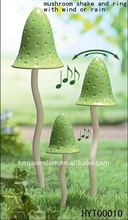SET/3 mushroom rain bell decoration