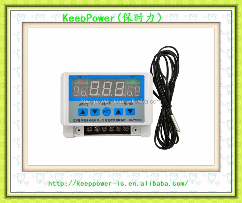 XH-W3103 digital display high-power wall mounted temperature controller thermostat 30A contact 6000W