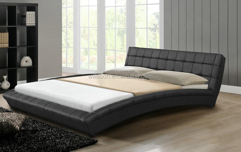 Cama De Tamaño Completo Bloque Diseño Últimas Muebles De Dormitorio Cama De La Pu De Piel Sintética 1116 - Buy Product on Alibaba.com