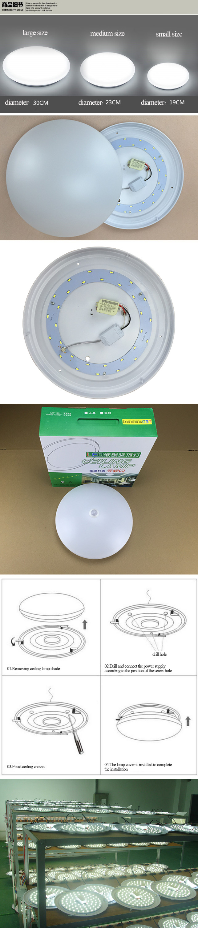 Easy Portable Led Concealed Ceiling Light Ac85-265v Dimmable Led ...