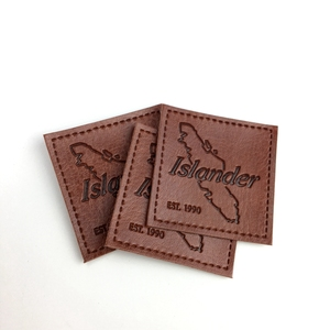High Quality Hot Stamping Custom Logo Leather Patch/Tag