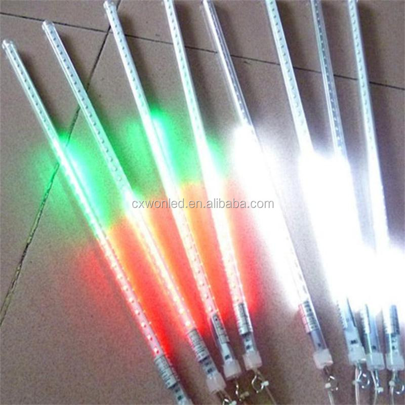Holiday decoration Rain tube light outdoor 20 30 50 cm LED meteor shower christmas lights