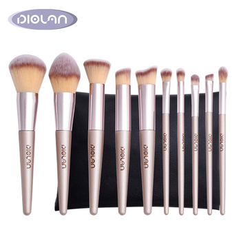 Neueste Private Label hohe qualität kosmetik pinsel 10 pcs beste make-up pinsel set