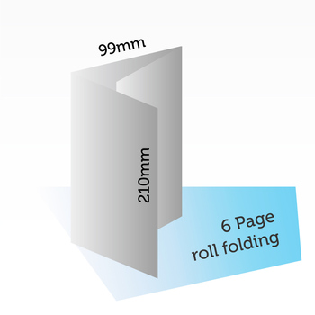 210*99mm,6 ges (3 panels) roll folding high quality pamphlet paper printing in shanghai