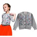 2015 Brand New Baby Girls Cotton Embroidery Cardigan Sweater Original Design Princess Girls Autumn Winter Knitted