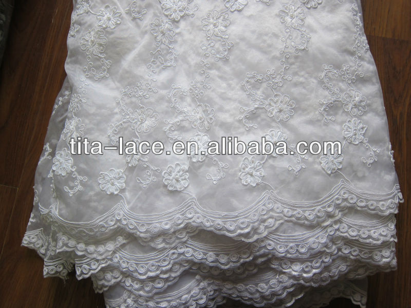 White Beaded Wedding Dress Lace Fabric For Dresses Patterned Product On Alibaba
