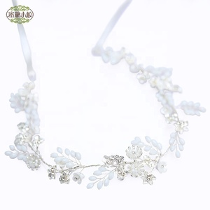 Bridal Headpiece Wedding Crystal Wreath Accessory Head Piece Band Brides Hair Accessories Wedding Floral Headband Bride Jewelry