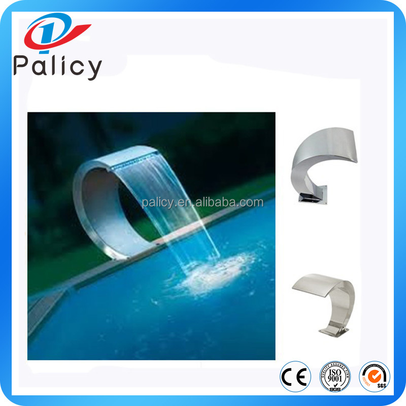 stainless steel 304 swimming pool water curtain gardening outdoor wall fountain waterfalls