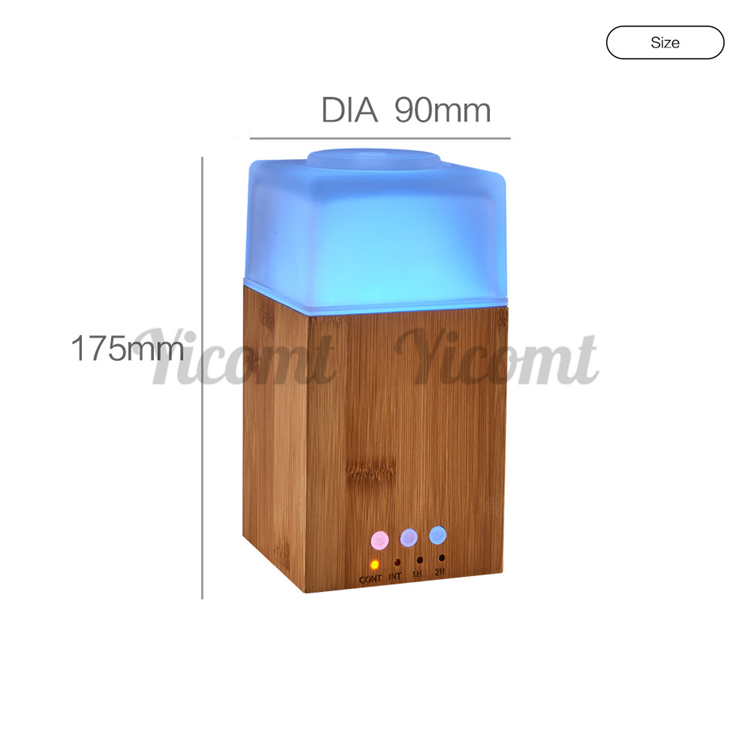 110Ml Real Bamboo Aromatherapy Ultrasonic Essential Oil Diffuser