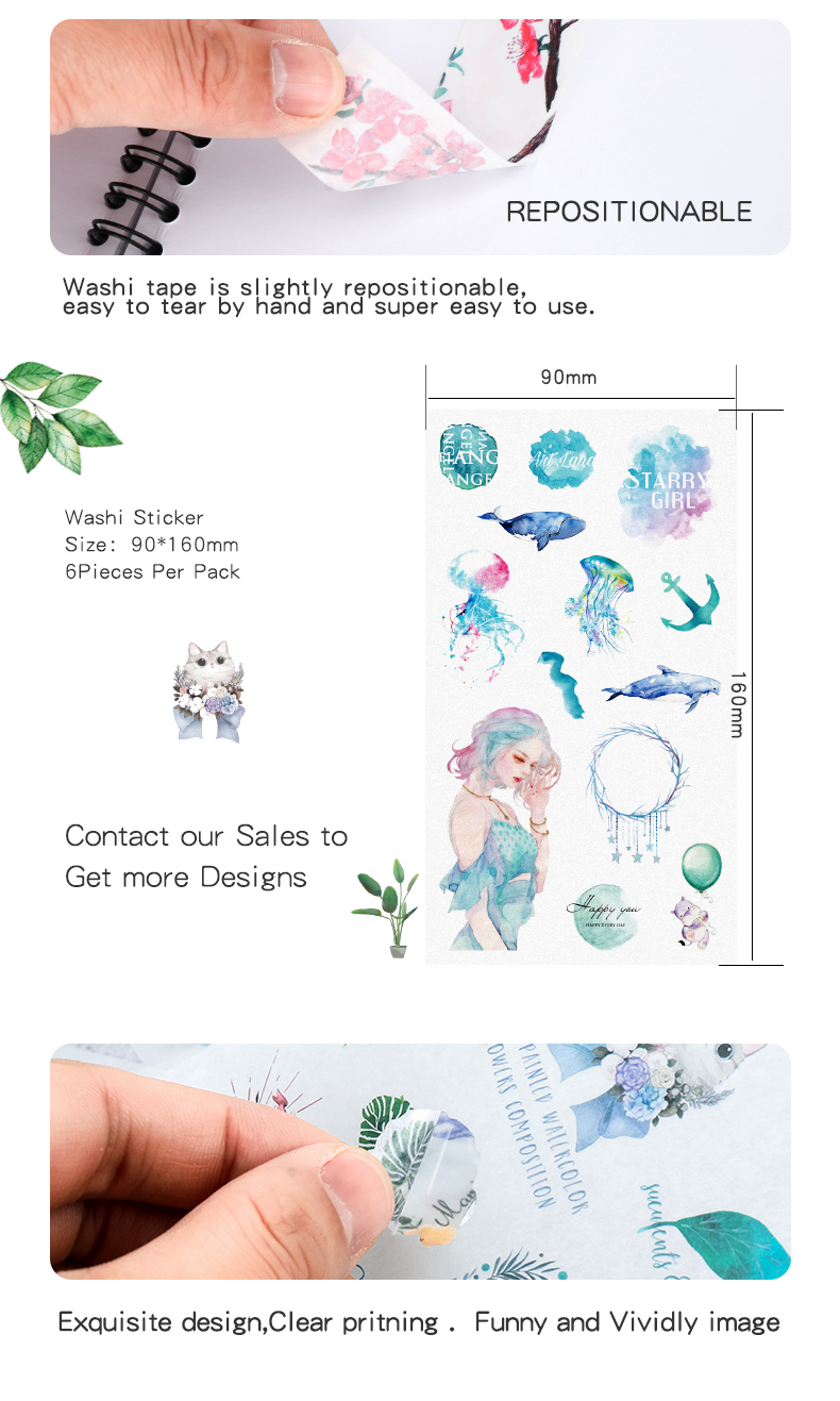 Vograce regalo promocional de alta calidad de PVC impermeable pegatinas de vinilo