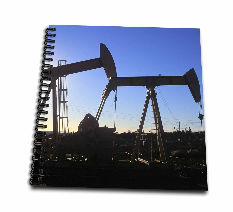 Danita Delimont - Peter Bennett - Energy - Inglewood Oil Field, Baldwin Hills, Los Angeles, California, USA - Memory Book 12 x 12 inch (db_191690_2)