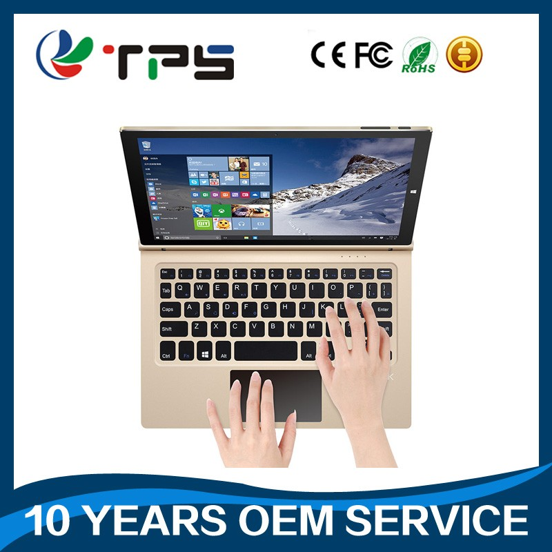 Free sample dual boot 2 in1 convertiblr laptop tablet pc Win OS 10 inch quad core Z3735G 4G 64GB tablet win 10 Android 5.1 TP-S