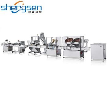 Glass/Plastic Bottle Capsule Tablet Packaging Line