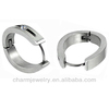316L Stainless Steel Clear Crystal Hoop Earrings 2013 HE-008