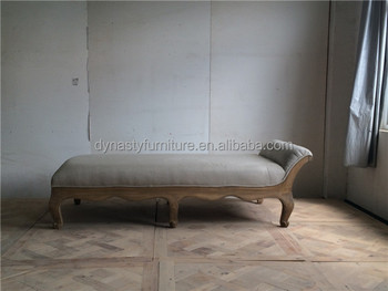 Divan Lits : Français style antique meubles en bois divan chaise pas cher divan