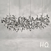 Best price Luxury modern stainless steel chrome chandelier for living room