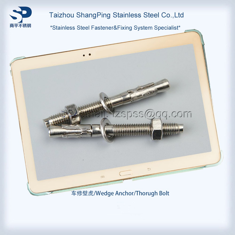 M10 Stainless steel 304 316 A2 A4 Expansion rock cocrete wedge anchor bolt
