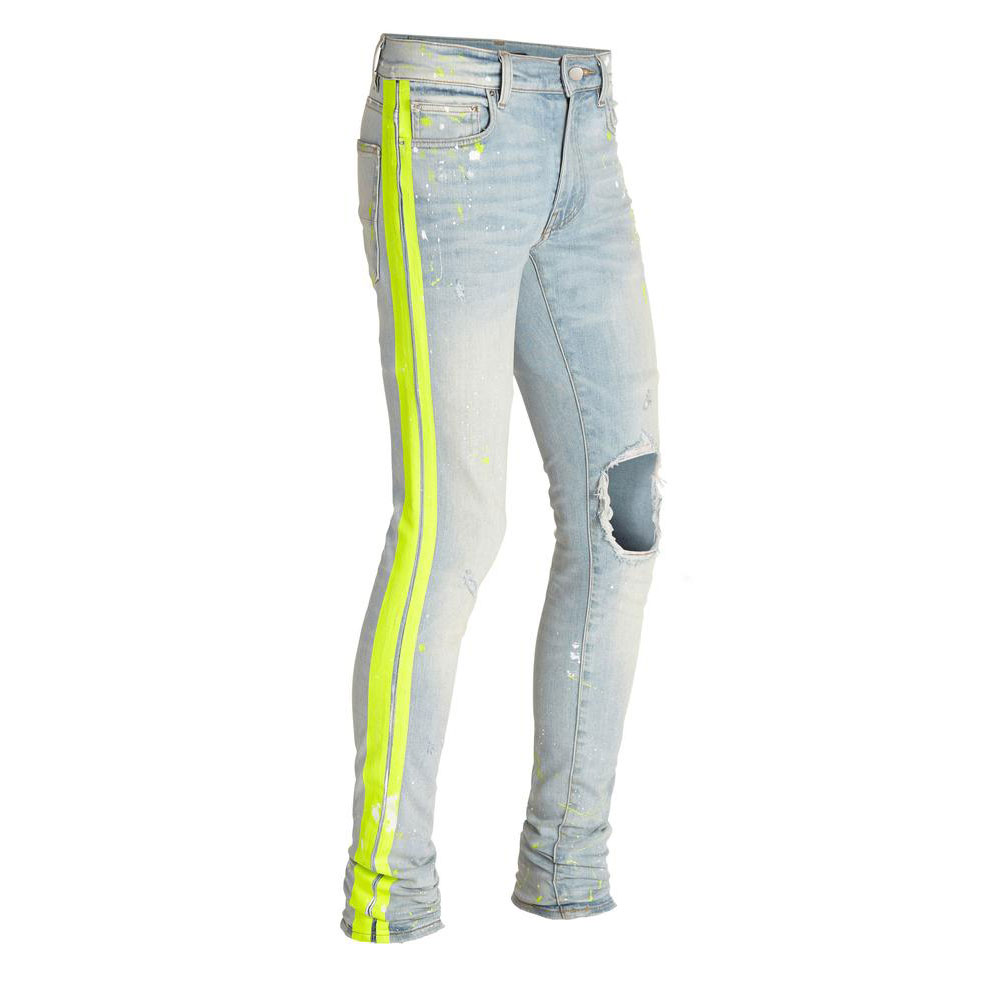 LUCE INDACO GIALLO ROTTO PITTORE PISTA JEANS