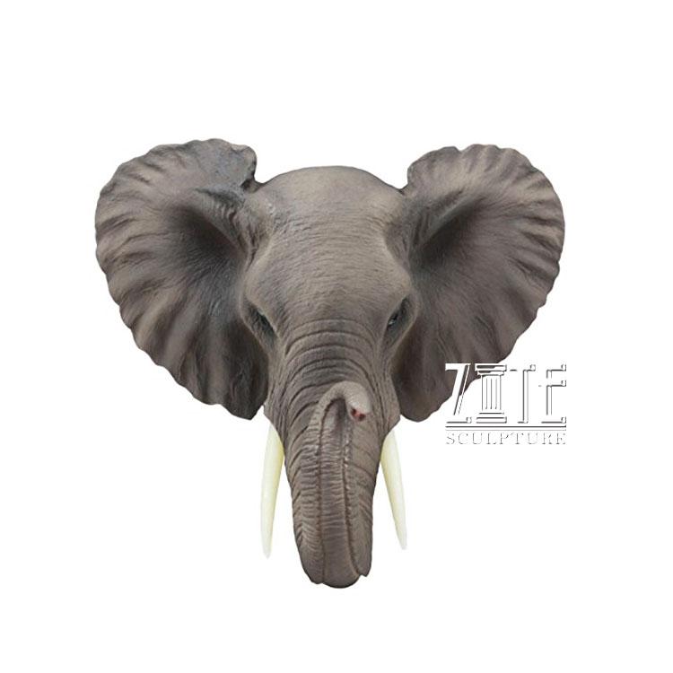 Bust Sculpture Resin Elephant Head