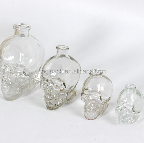 Popular skull shape crystal skull glass red wine bottle wholesales