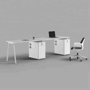 Modern white office furniture table 2 and 3 person for office desk
