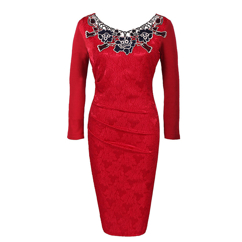 2019 DH034 Ladies Sister Party Frock Vintage Red Women Dresses Long ... d9838b331