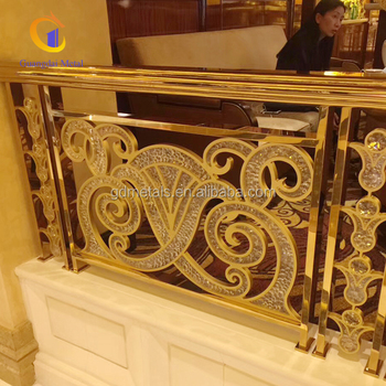 Gold stainless steel railings stainless steel railings for hotels
