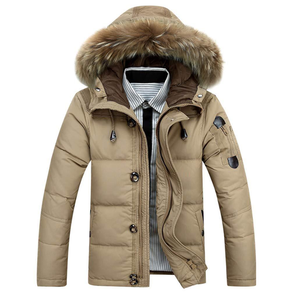 a856986fd6bbd Get Quotations · FEIYUQII Men s Winter Keep Warm Coat Jacket Coat Casual  Men s Down Jacket