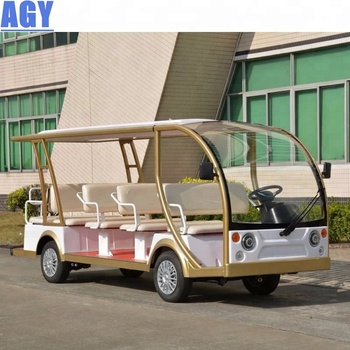 AGY china manufacture 14 seats golf cart parts electric sightseeing club car for tourism