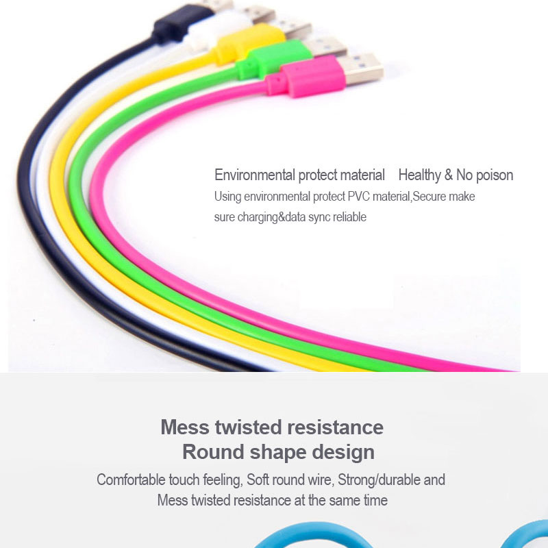 Wholesale 1M mobile phone charger usb round data cable for apple iphone 5 6 7