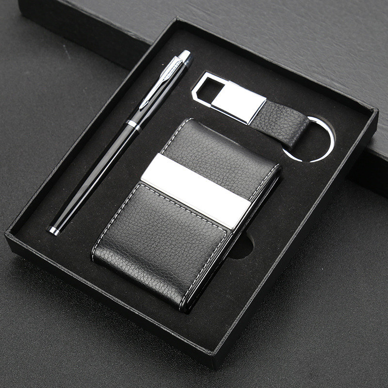 Pen Keychain And Card Holder Gift Set Corporate Executive Gift Set  Promotional Gift Set For Clients - Buy Corporate Gift Set,Executive Gift