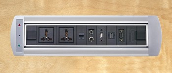 Flipping Electric Socket with Universal power and HDMI USB