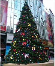 SJLJ0523 outdoor PE decorative ornamental tree artificial christmas trees for Christmas decoration