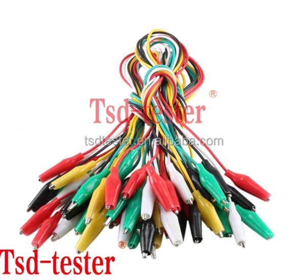 10pcs 5-colors Double Ended Cable Battery Alligator Testing Cord Clip To Banana Clamp Test Leads Lead Jumper Wire 50cm Diy Kit Back To Search Resultshome Improvement Connectors & Terminals