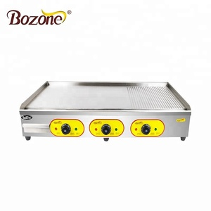 EG-8110 Restaurant Equipment Tabletop Non-stick Flat Plate Grill /Hot Plate And Grill /Professional Electric Griddle