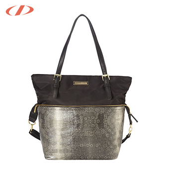47d57d902 DICHEL design zippered slip pocket promotional foldable tote bag beach tote  bag
