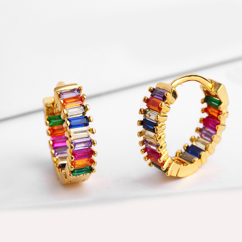 เพชร zirconia คริสตัล joyas al por mayor ทองเกาหลีแฟชั่น brincos femininos hoop aretes เครื่องประดับต่างหูผู้หญิง