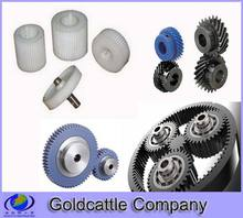 Plastic planetary helical gears sets molding and assembly