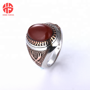 Silver Man Ring Latest Big One Stone Ring Designs for Men Saudi Arabia s925 Silver Rings